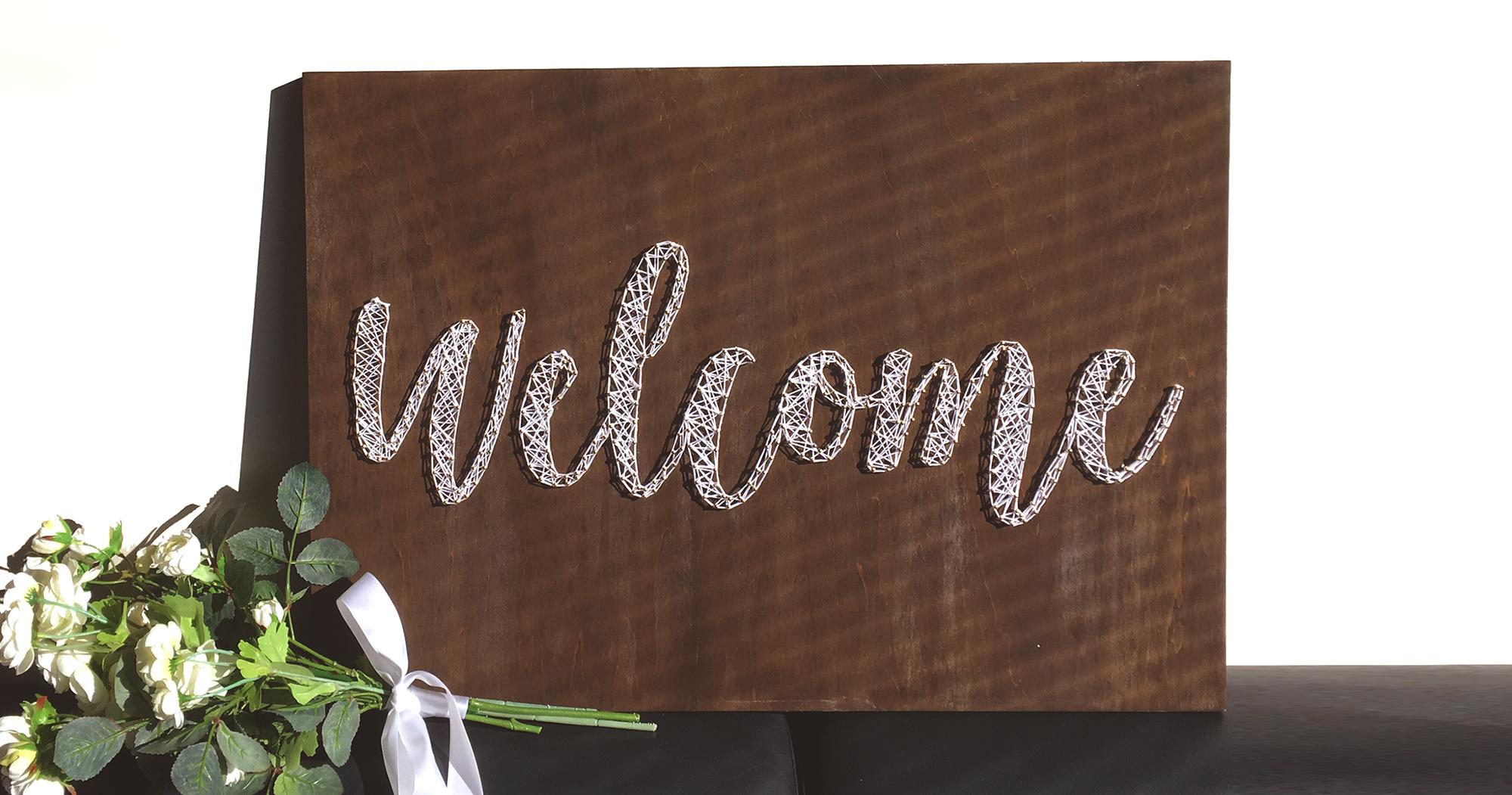 結婚式のウェルカムボードに!釘と糸を使ったストリングアートの作り方とコツ