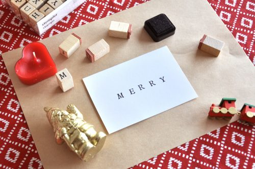手作りのクリスマスカード