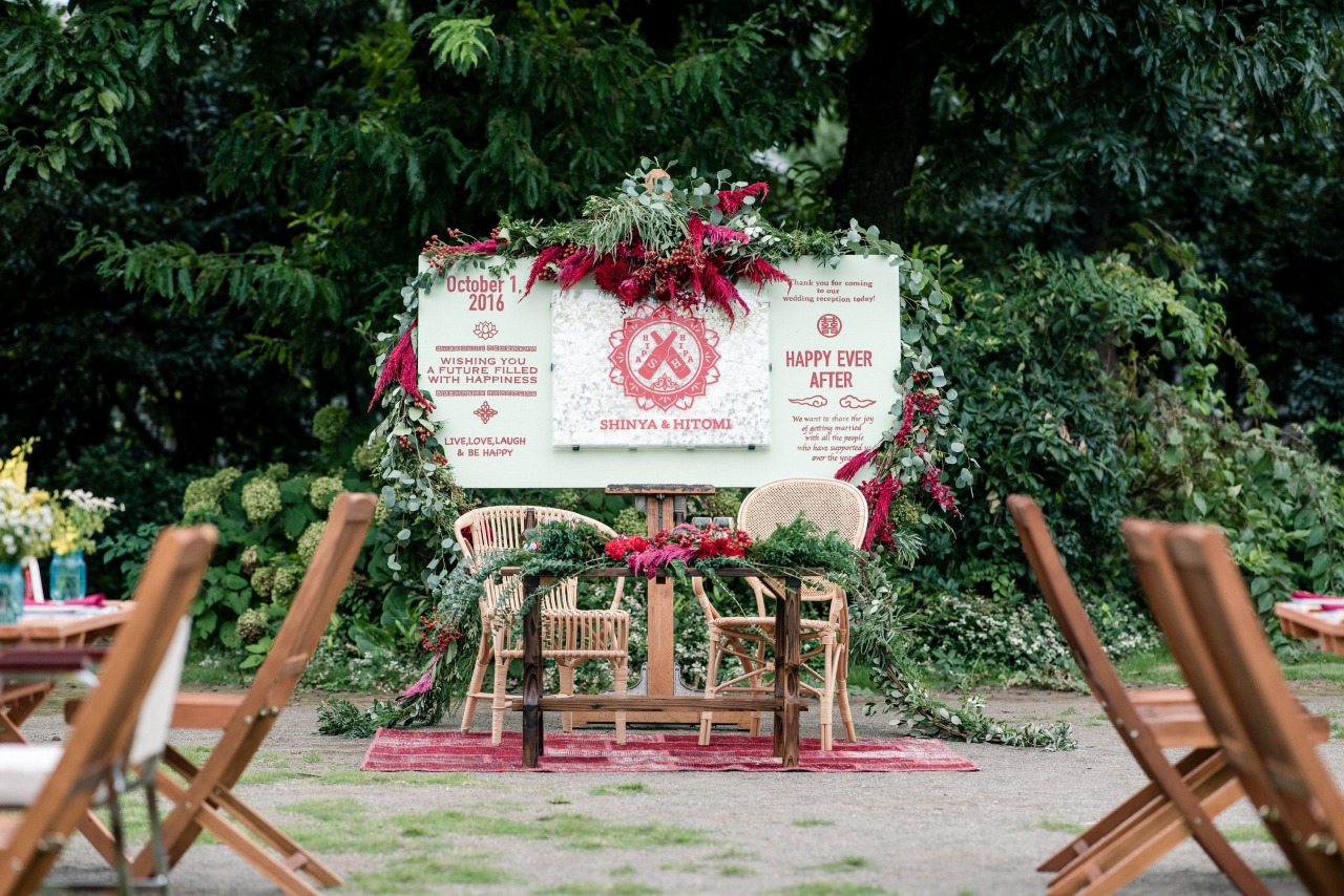 結婚式高砂