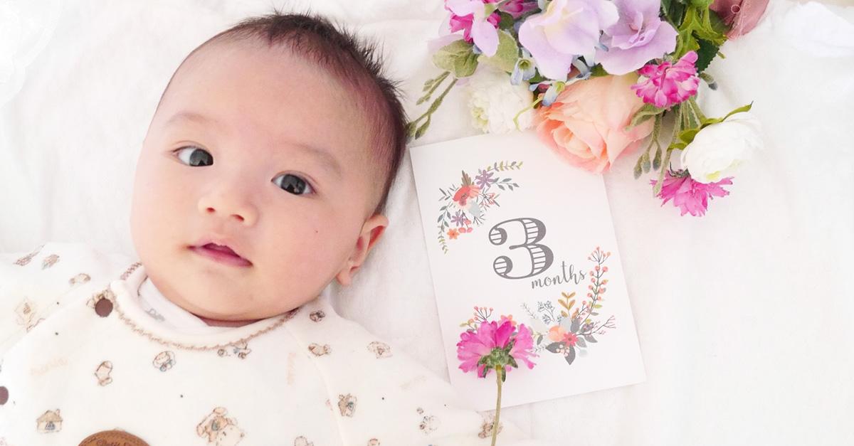 赤ちゃんの月齢ステッカー
