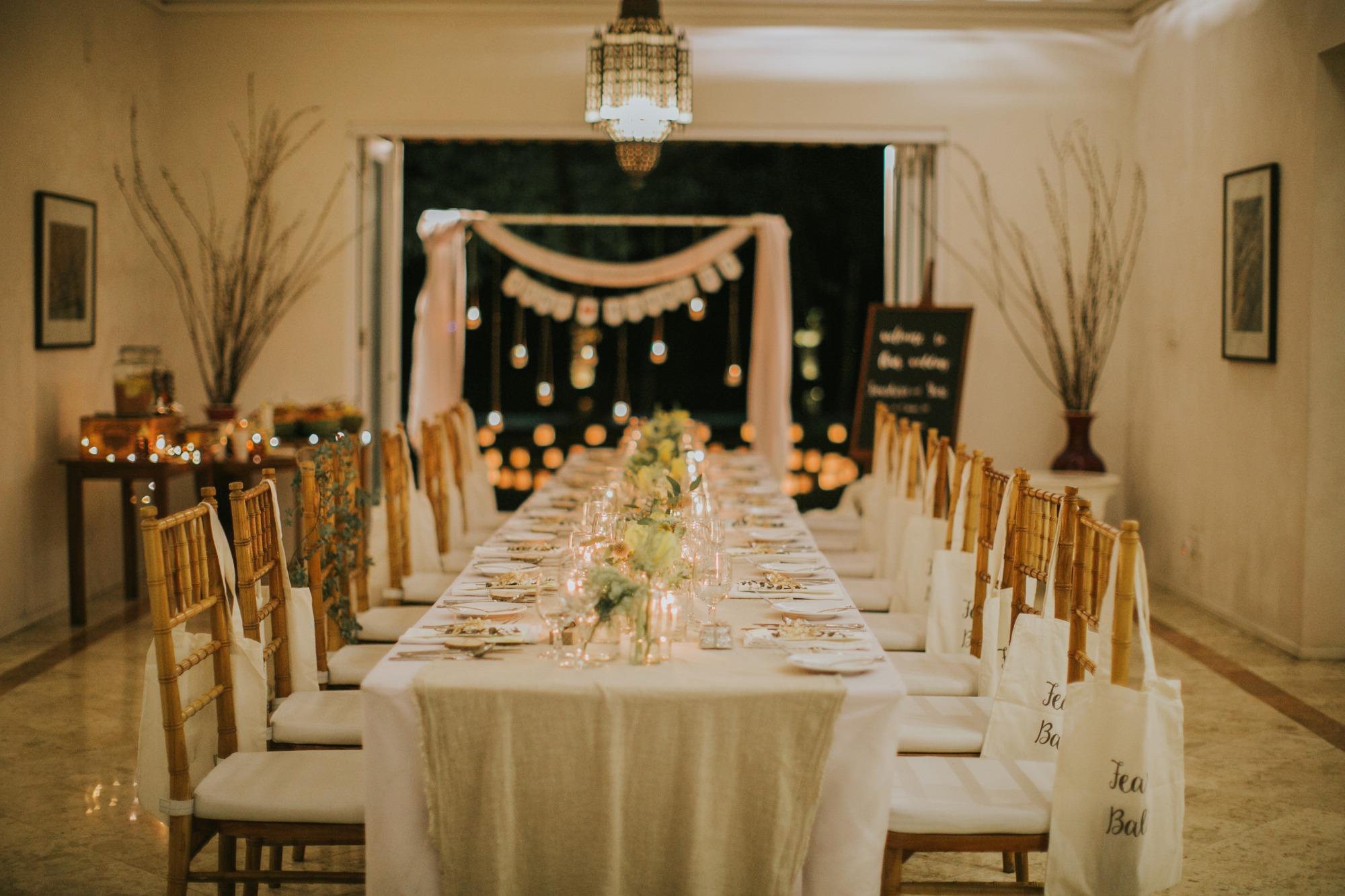 家族挙式などの少人数婚に】あえて高砂を作らない!流しテーブル