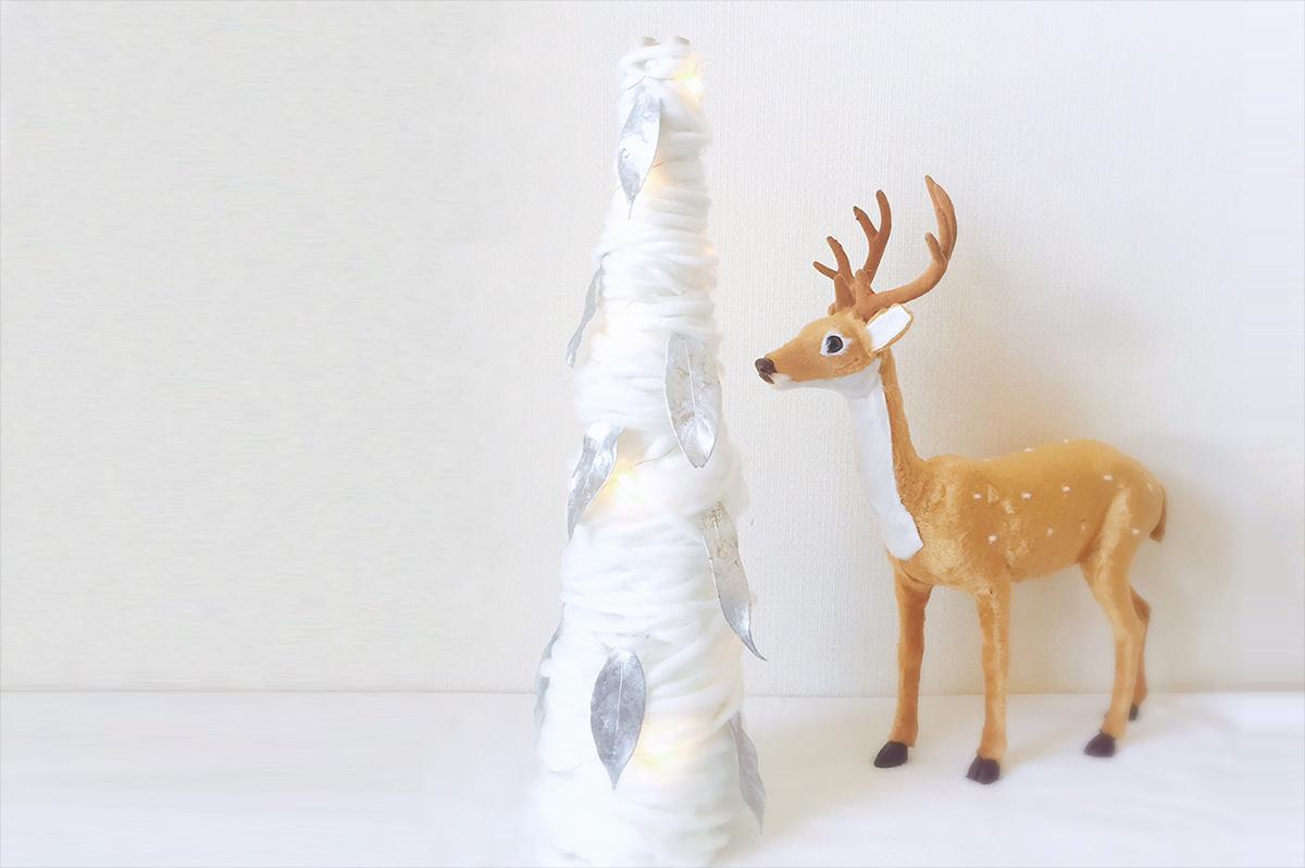 毛糸のふわふわクリスマスツリー