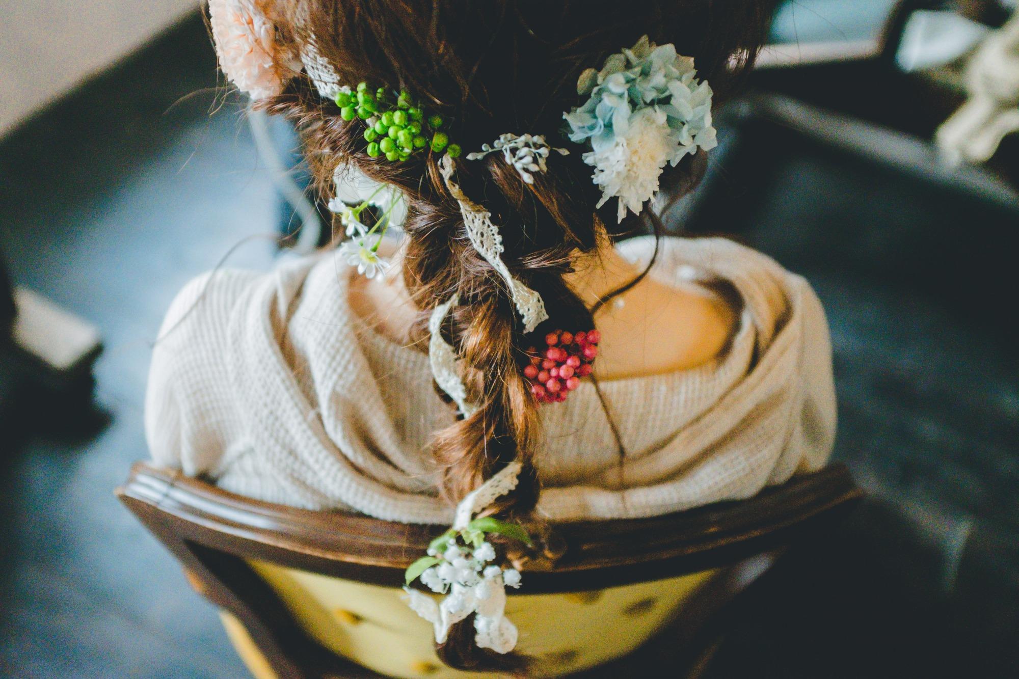 結婚式 新婦 髪型