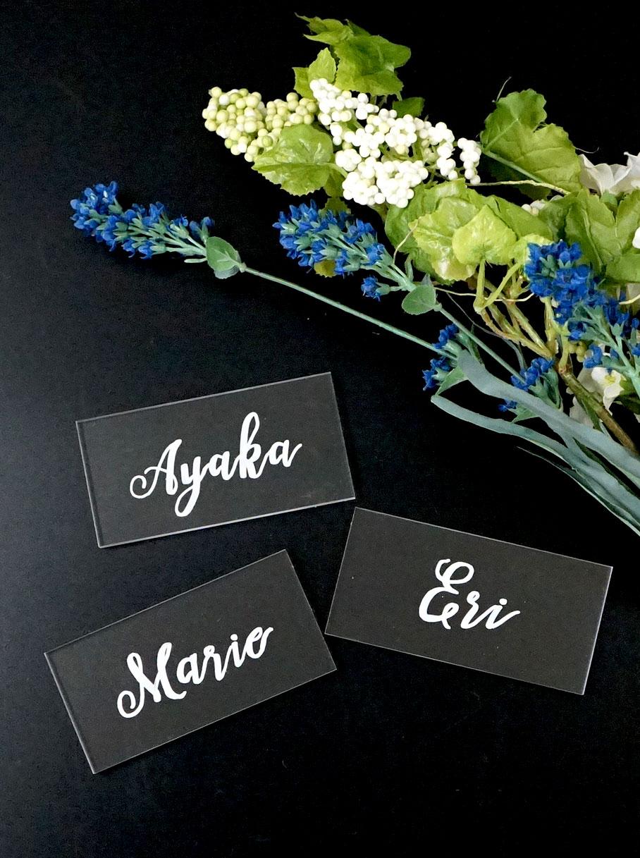 結婚式 席札