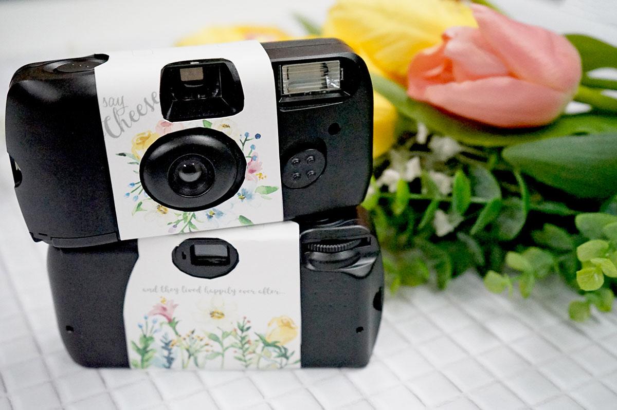 春の結婚式演出にぴったり!水彩お花のカメラカバー【無料テンプレート