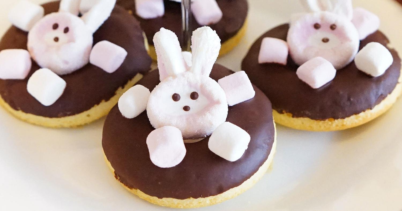 【動画】イースターで春をお祝い♪マシュマロうさぎのドーナッツの作り方