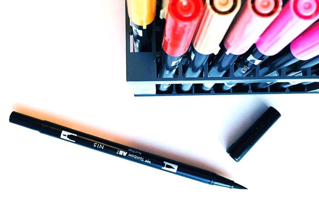 トンボ鉛筆デュアルブラッシュペン