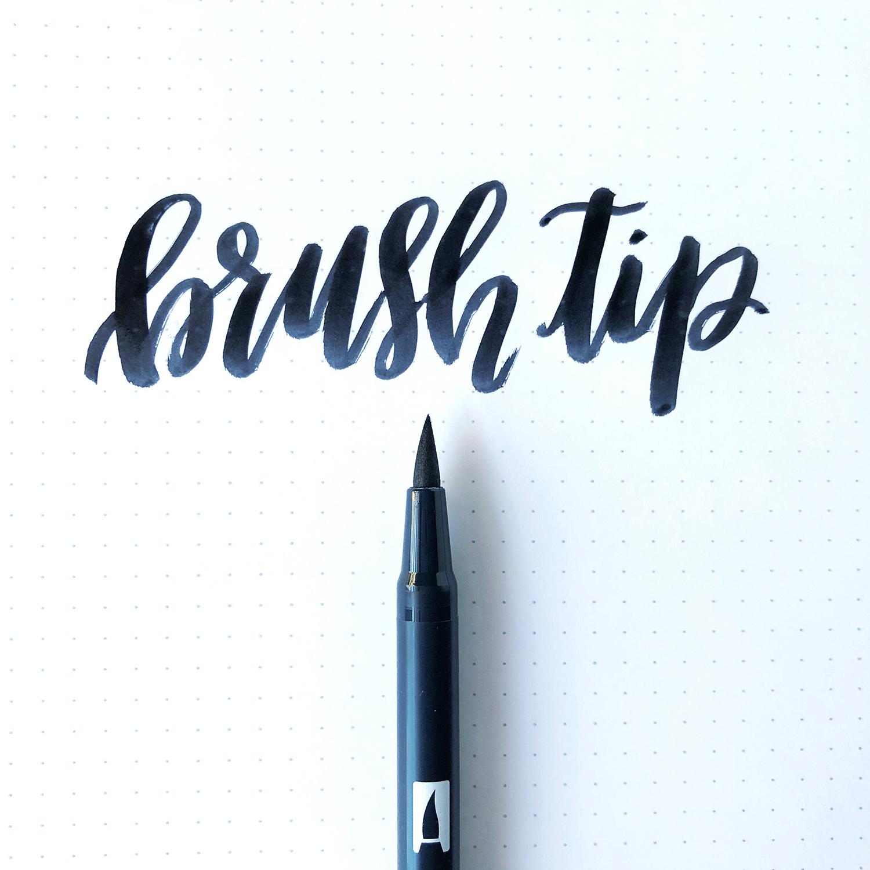 トンボ鉛筆デュアルブラッシュペン筆先