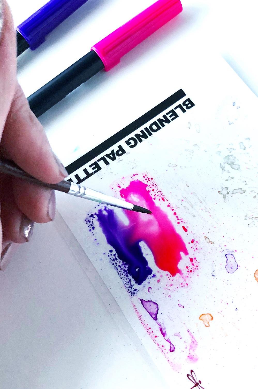トンボ鉛筆色混ぜパレット
