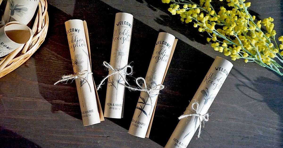 春の結婚式に!お花デザインのくるくる席次表を手作りしよう|無料テンプレート