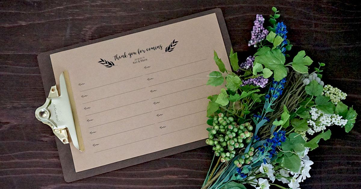 結婚式芳名帳に。ゲストブックを手作りしよう【おしゃれな無料テンプレートつき】