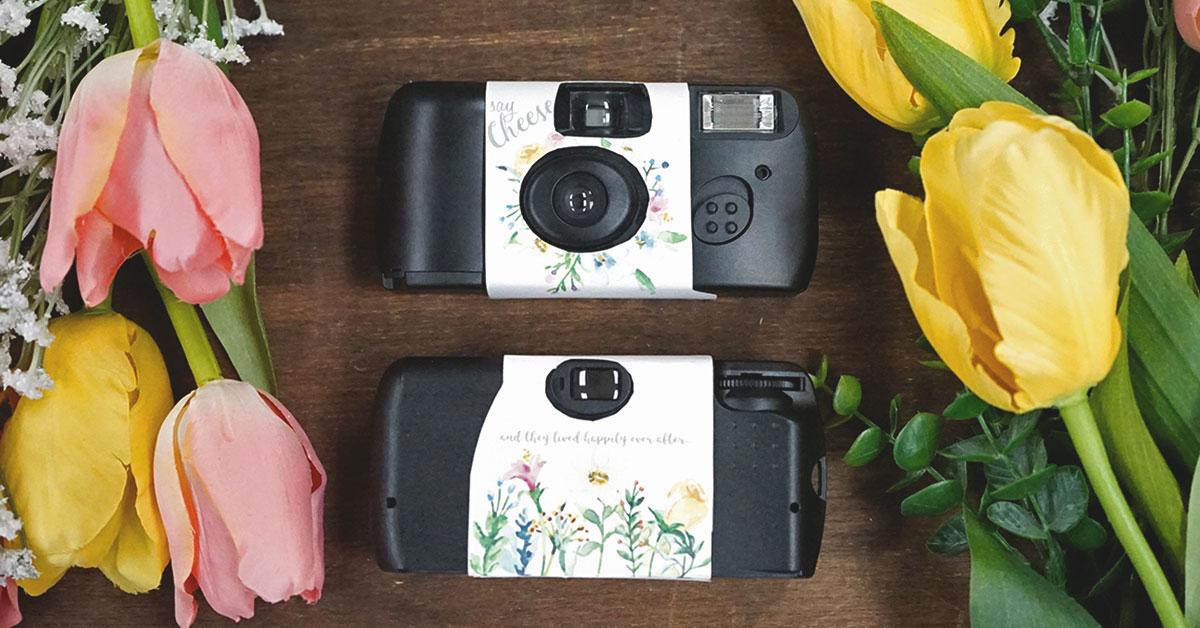 春の結婚式演出にぴったり!水彩お花のカメラカバー【無料テンプレート】