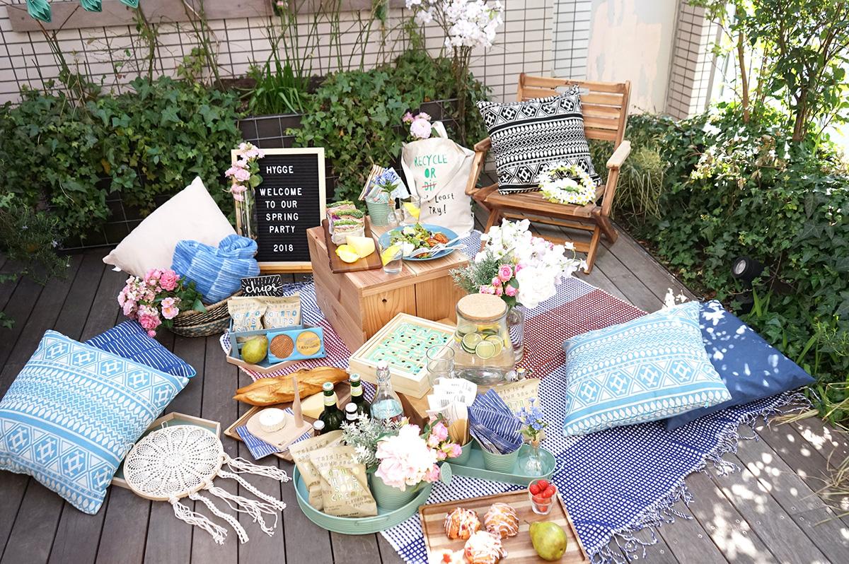 ベランダでお花見ピクニック