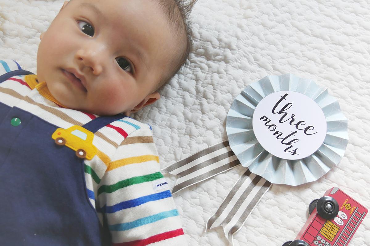 赤ちゃんの月齢ロゼット