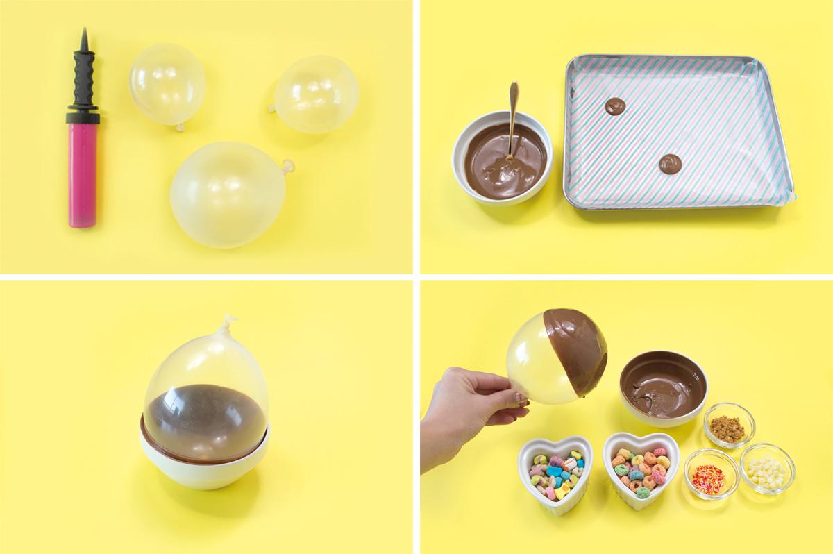 チョコレートボウルの作り方