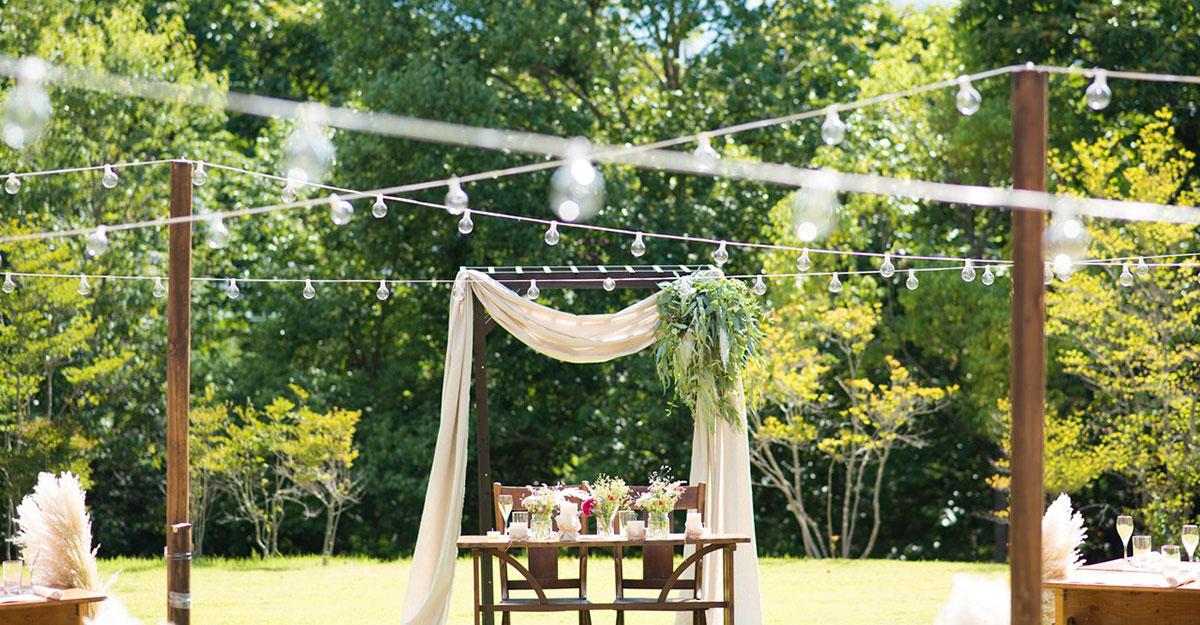 アウトドアウェディングを検討するときにチェックしたい、野外での結婚式成功のコツとは?