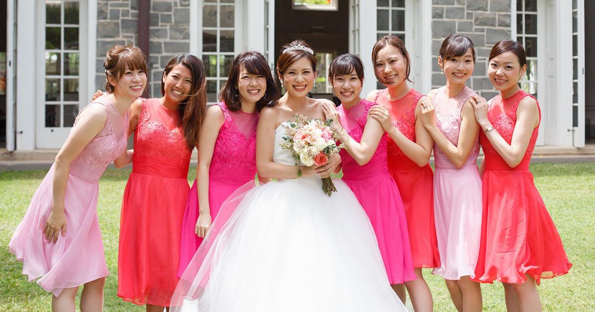 国内結婚式でも今や当たり前⁉︎ブライズメイドの取り入れ方とドレスの選び方を伝授!