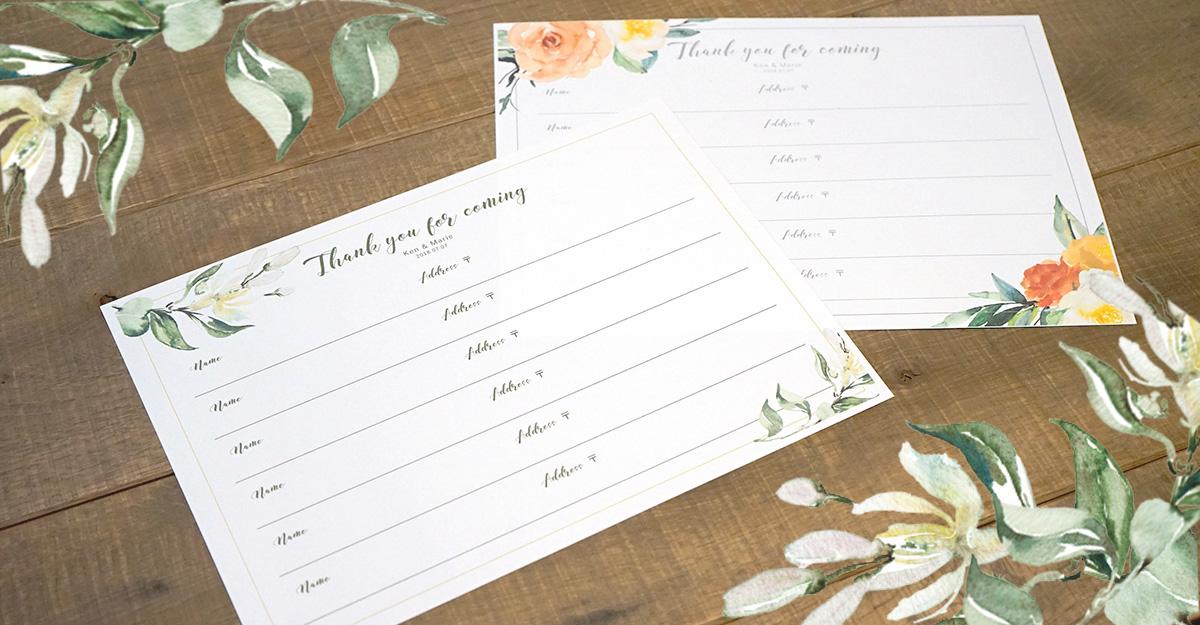芳名帳無料テンプレート第2弾!フローラルデザインの結婚式ゲストブックを手作りしよう