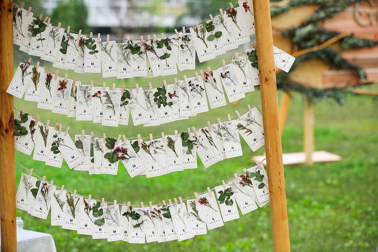 結婚式 エスコートカード