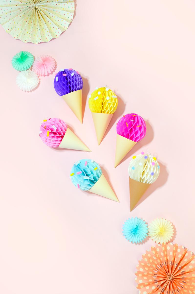 ハニカムボールで作るアイスクリーム