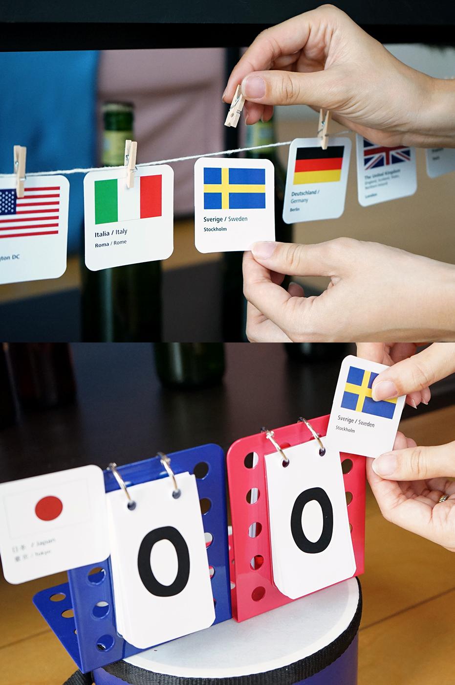 国旗カードでDIY