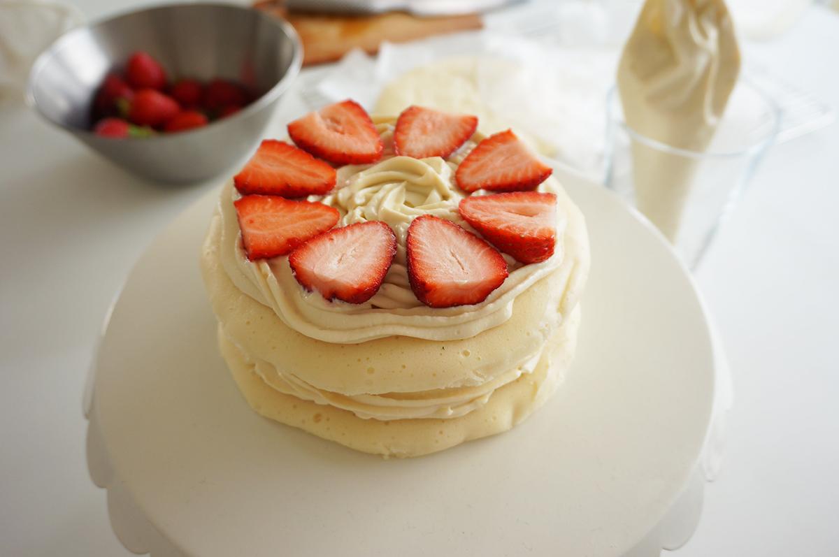 オーブンいらずふわふわケーキ