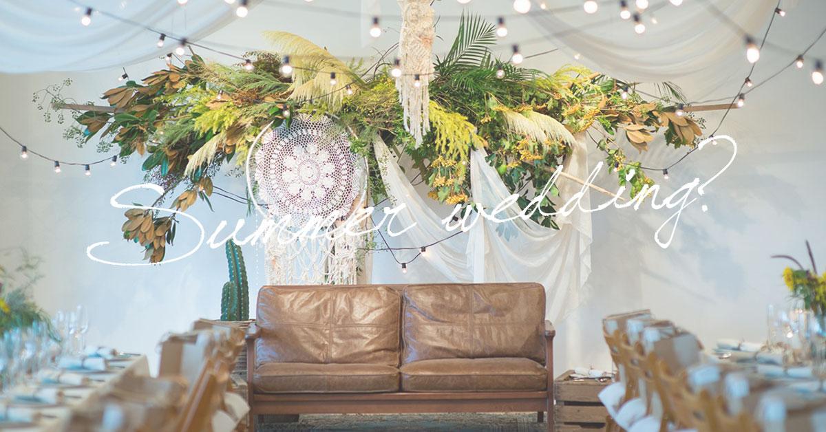 夏の結婚式にぴったりな装飾は?素敵なサマーウェディング成功の秘訣