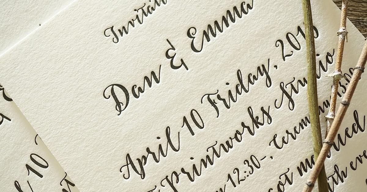 人と差をつけたい花嫁さんに!オシャレすぎる活版印刷の招待状をオーダーしよう