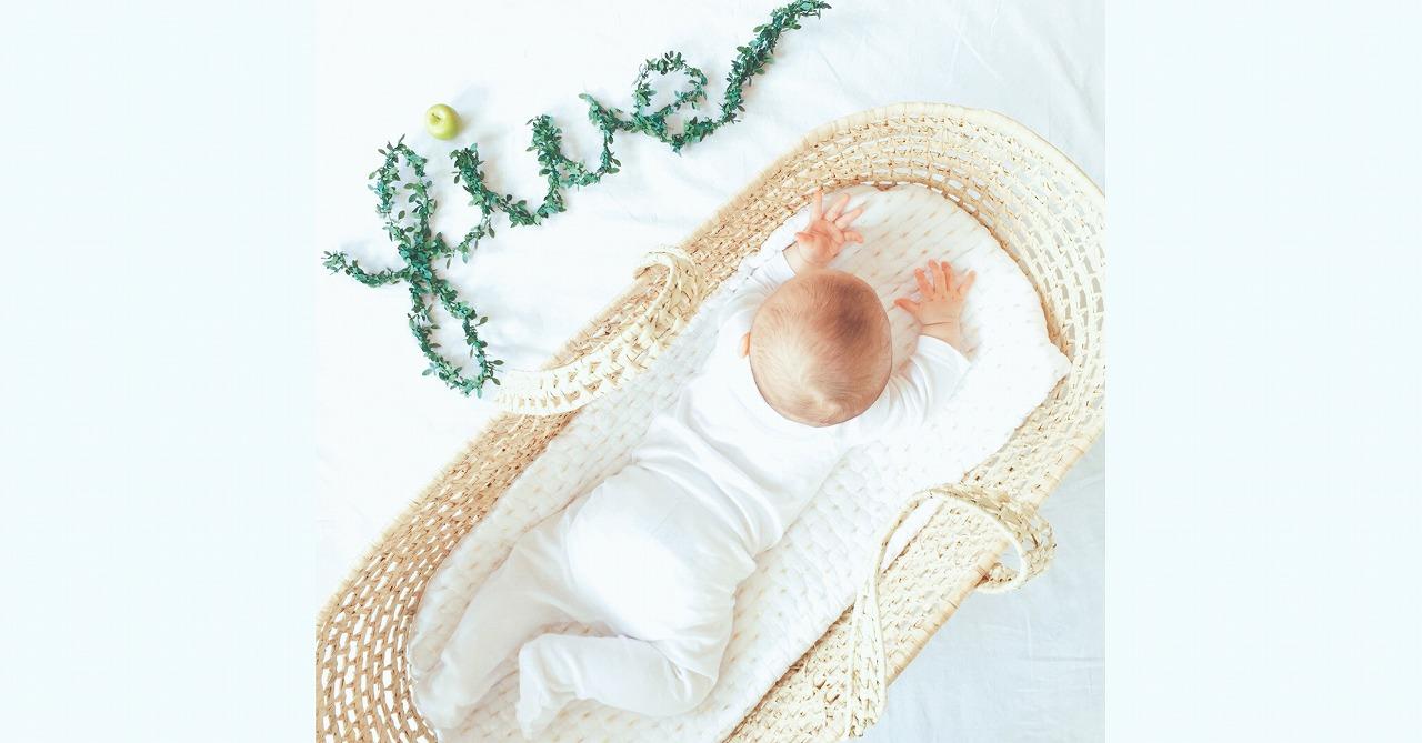 グリーンガーランドでナチュラル可愛い赤ちゃんの月齢フォトプロップス