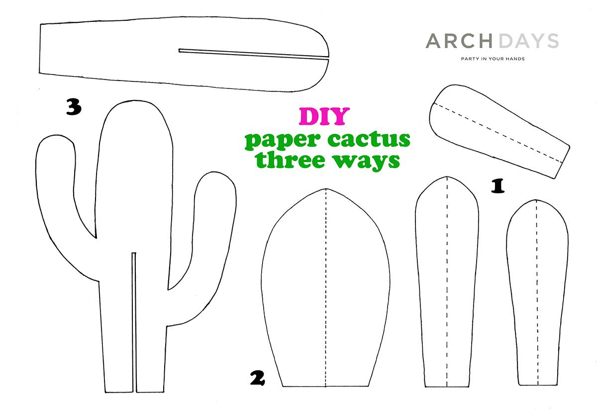 紙サボテンの作り方