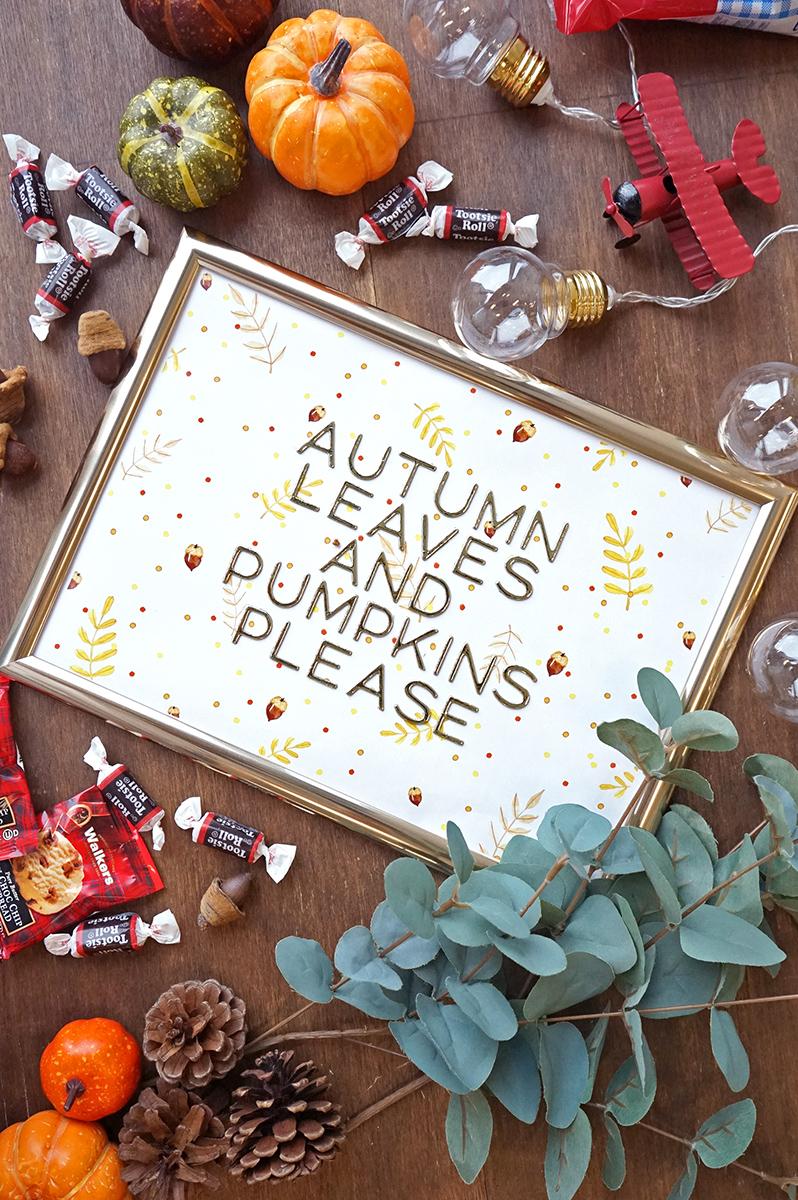 秋のメッセージボード