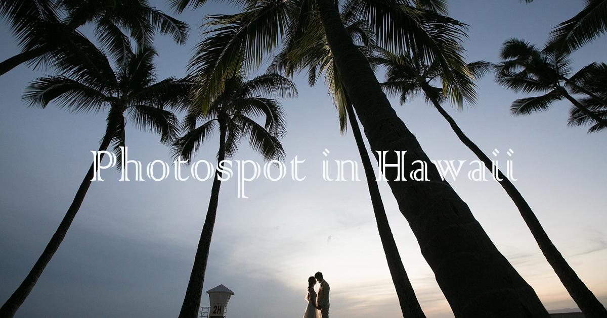 ここでしか撮れない特別な瞬間!ハワイウェディングでおすすめフォトスポット集