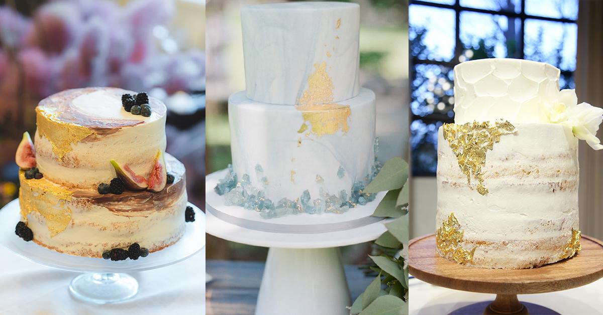 ウェディングケーキのネクストトレンド!とびきりおしゃれな「金箔ケーキ」9選