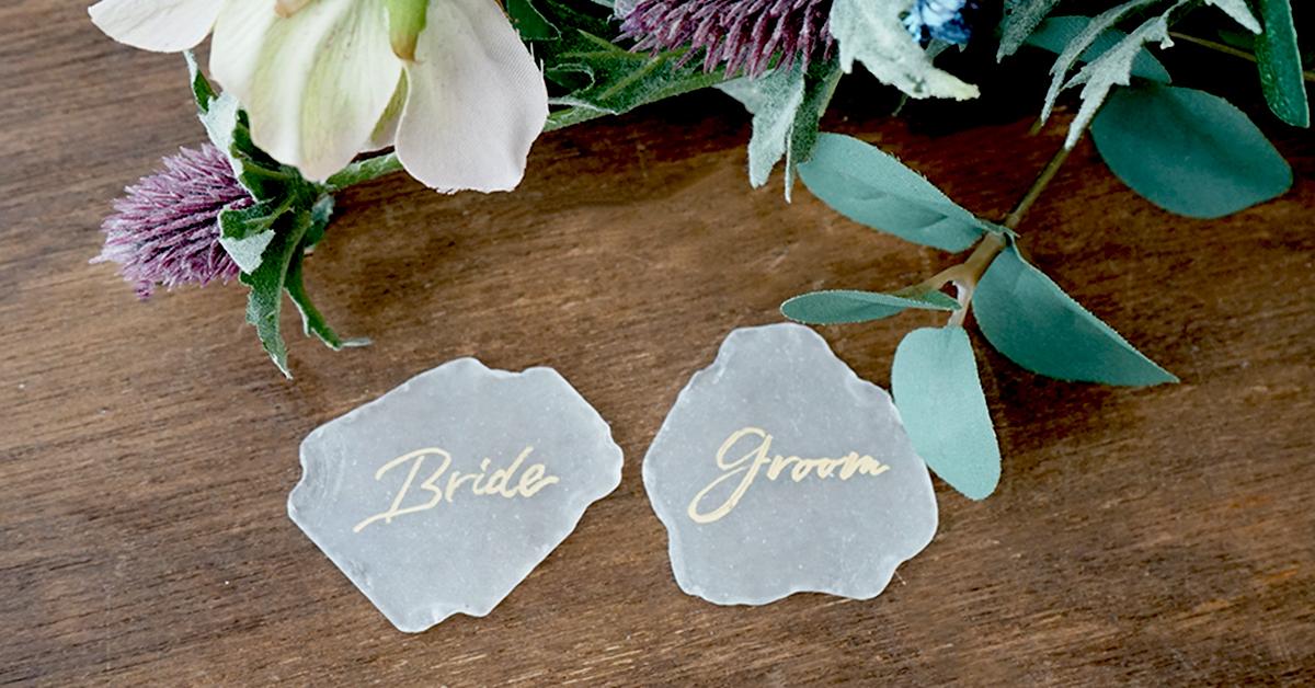 海外風のおしゃれ席札を手作り!シーグラスを使った結婚式席札の作り方