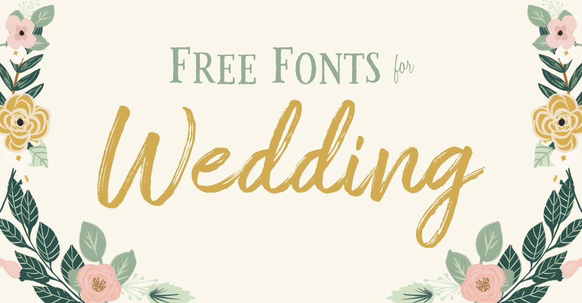 【第三弾】無料DLできるおしゃれなフリーフォント10選。招待状や席札などの結婚式準備に