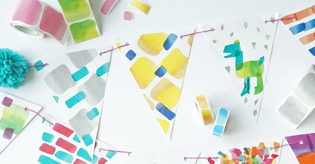 【ワークショップ情報】色の不思議を楽しもう!シールで作れる水彩画『ペタペタウォーターカラー』