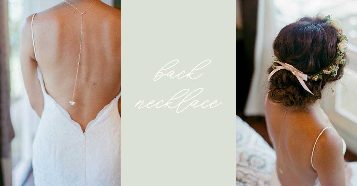 欧米花嫁の間で流行中!背中美人になれる「バックワードネックレス」って知ってる?