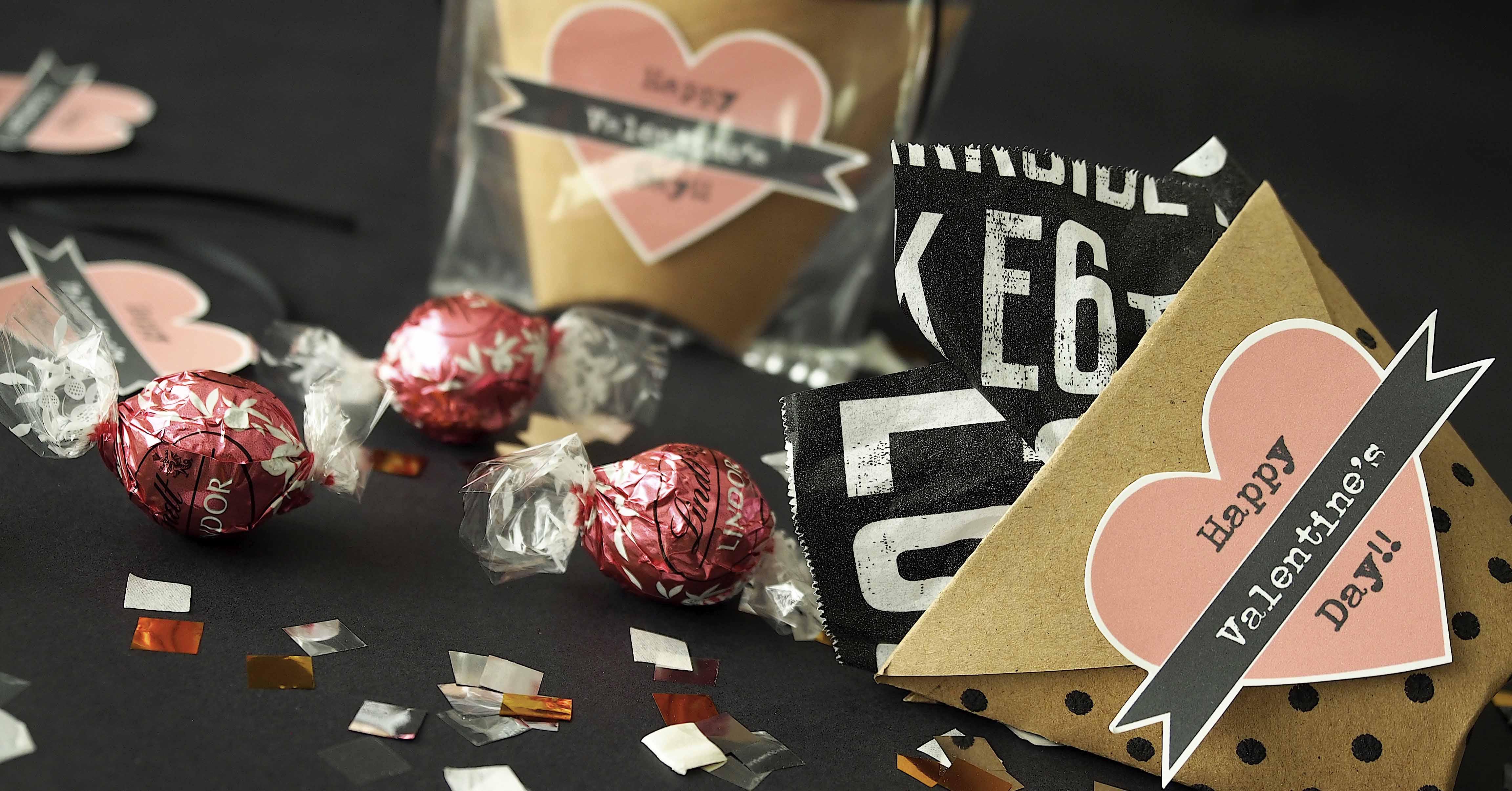 今年流バレンタインは「ダスティピンク」♪無料テンプレで作るラッピング
