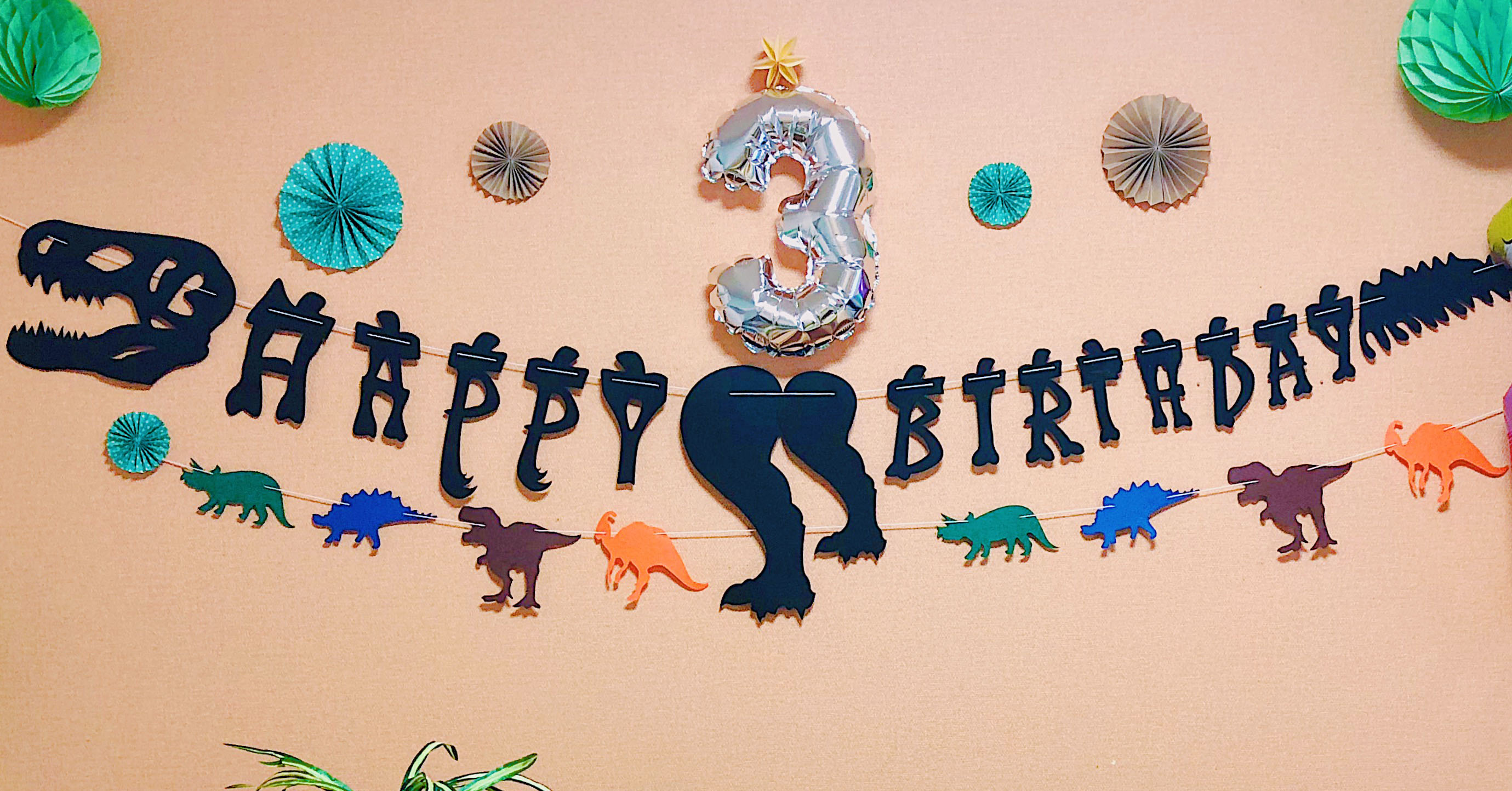 A JURASSIC BIRTHDAY WITH DINOS