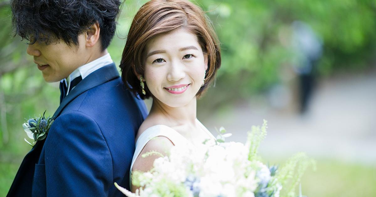 短め髪でも華やかに。ショート・ボブヘアのとびきり可愛い花嫁ヘアスタイル