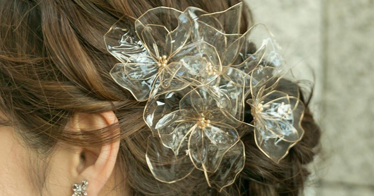 和装ウェディングにも!ゴールドフラワーのヘッドドレスの作り方