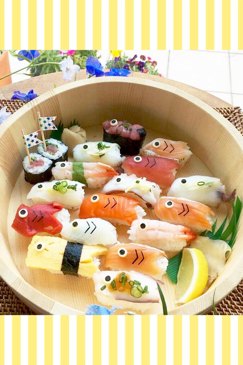 こいのぼりデコ寿司