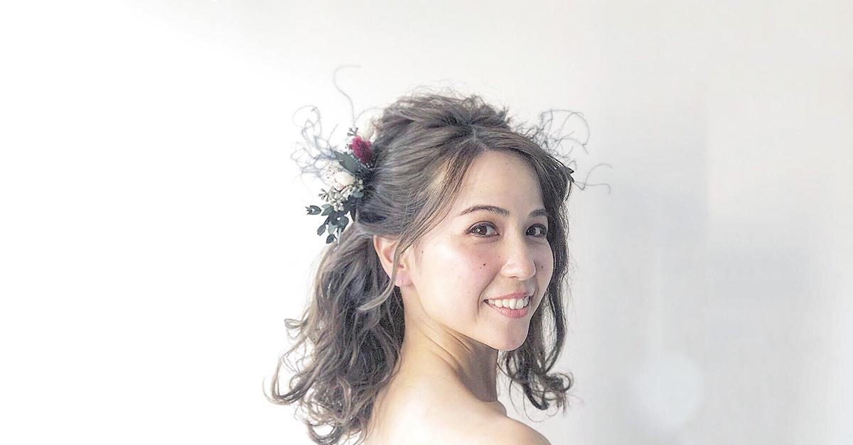 """おしゃれ顔が叶うブライダルヘアメイクアーティスト""""知花""""に注目"""