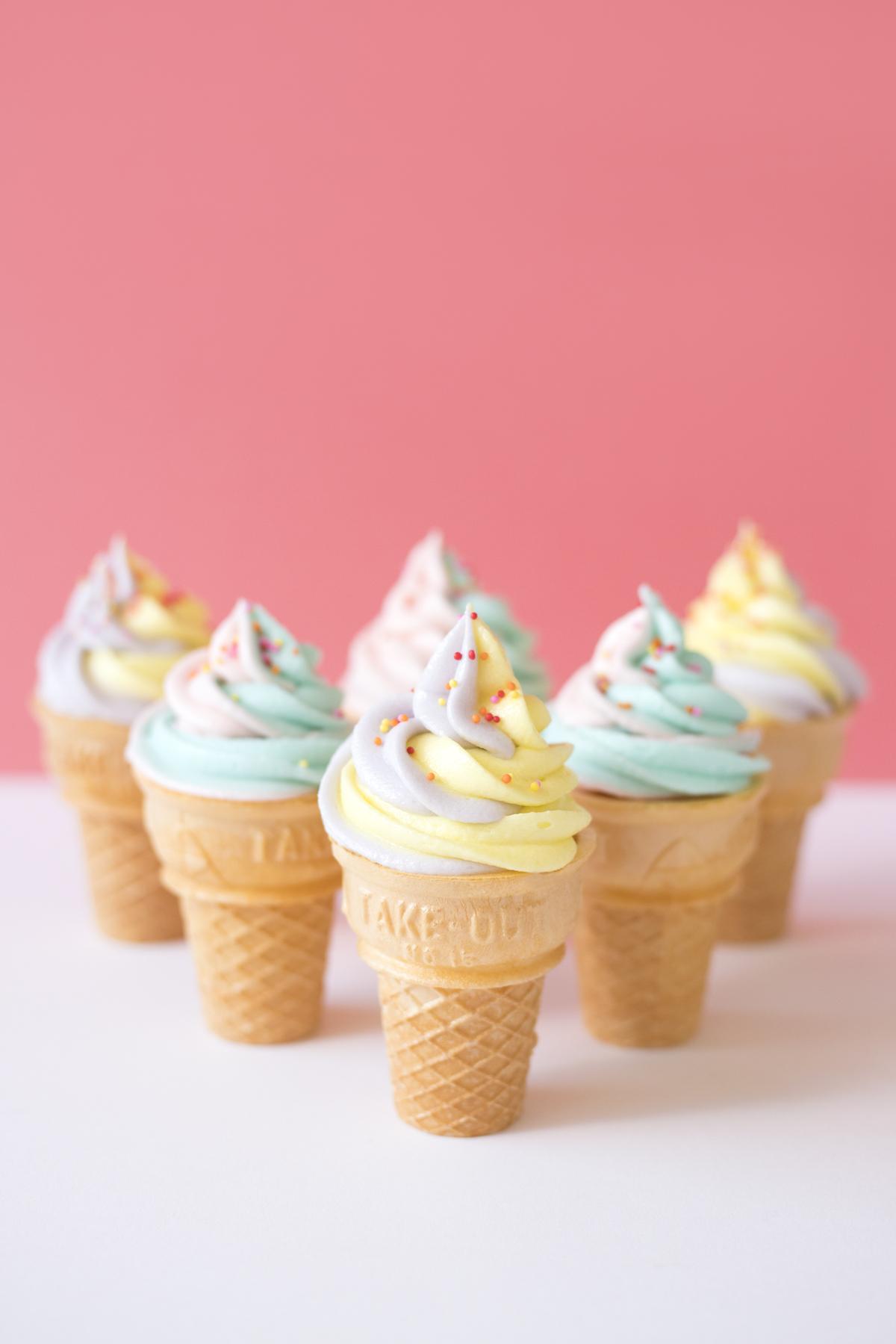 アイス風カップケーキ