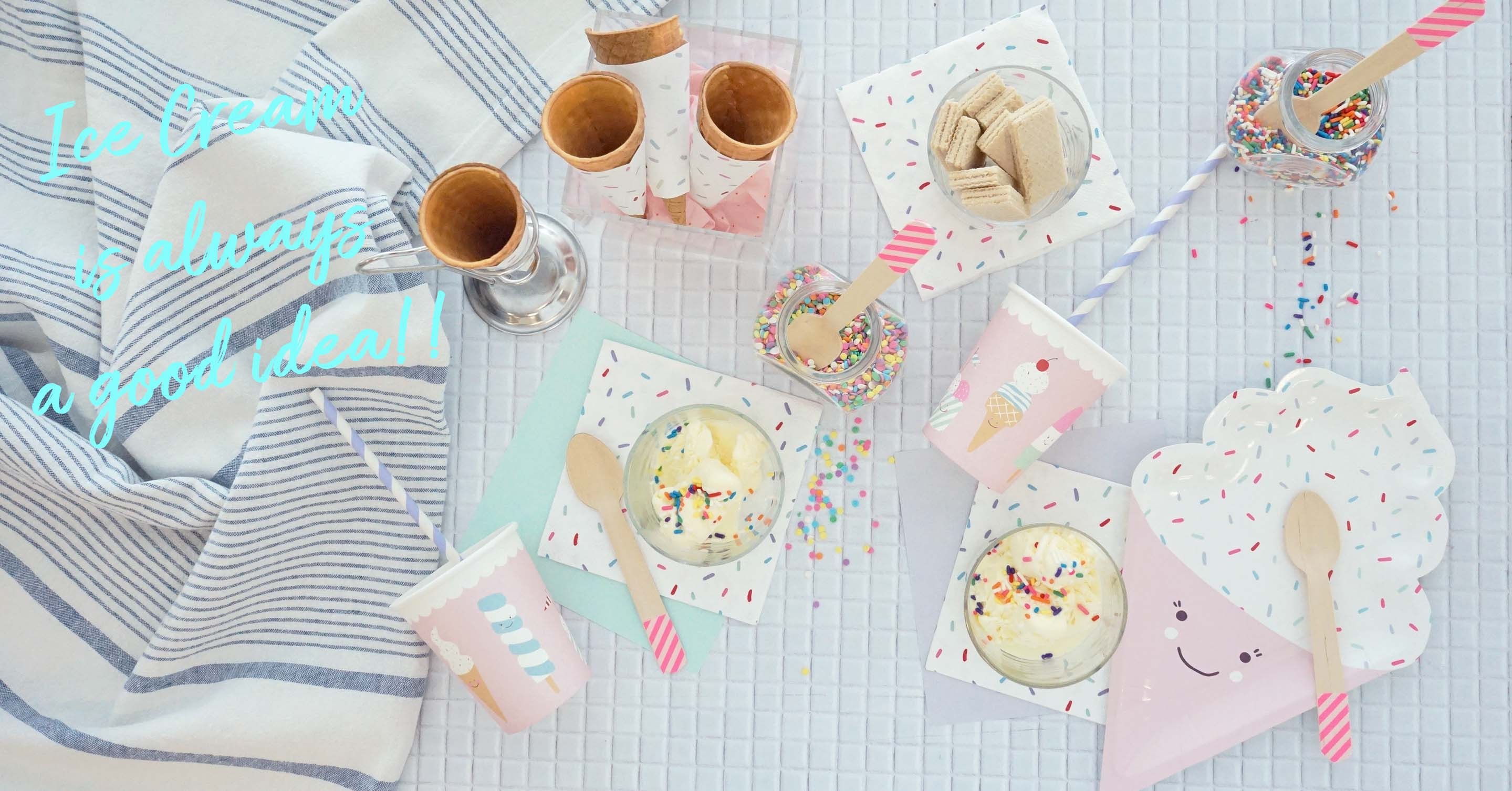 「アイスクリームパーティー」をおしゃれに♪おすすめアイテム&アイディア