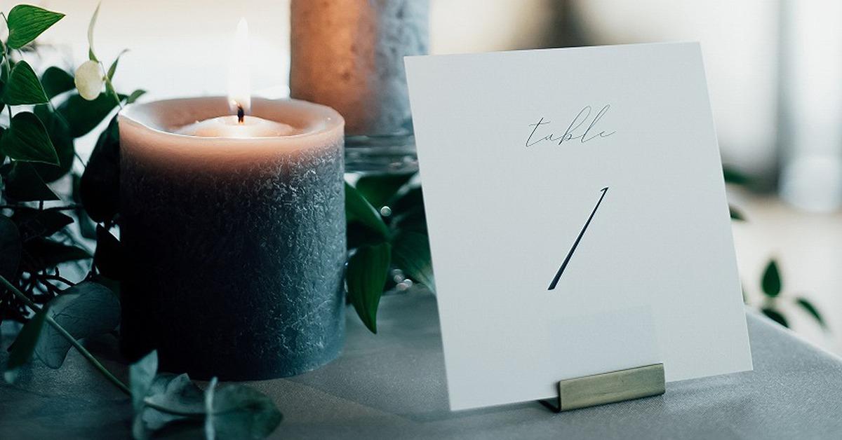 結婚式ゲストテーブルに欠かせないおしゃれな「テーブルナンバー」14選