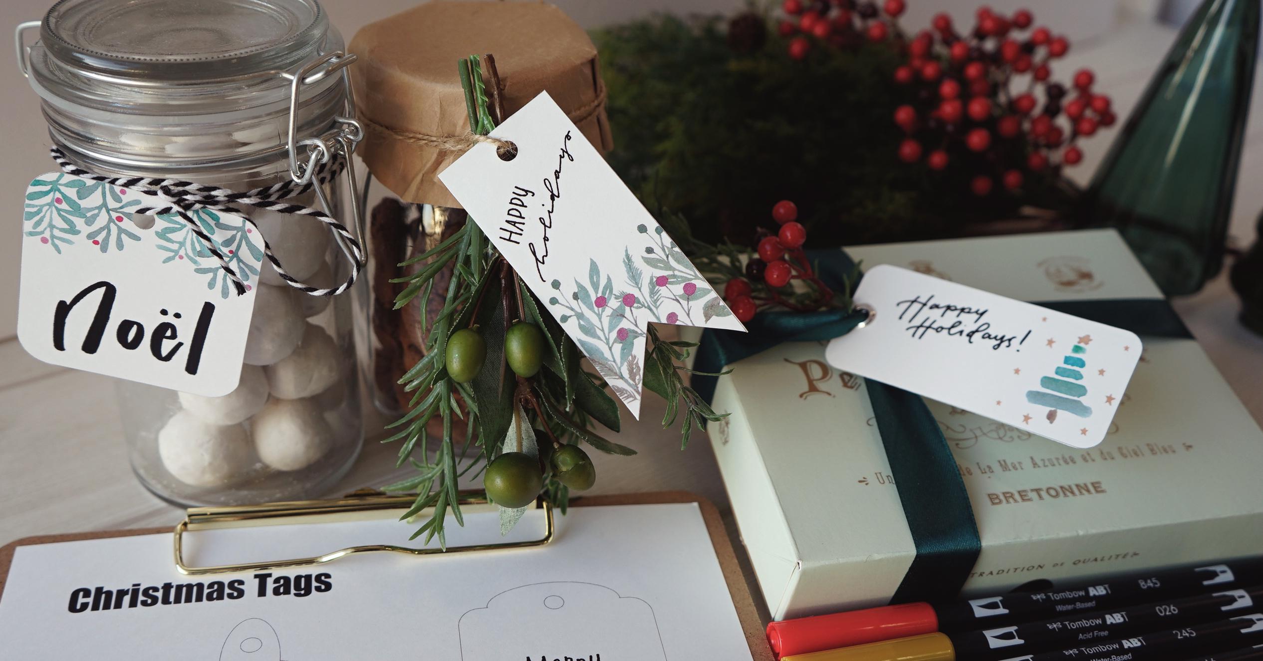 手作りクリスマス|無料テンプレートで作るおしゃれギフトタグ