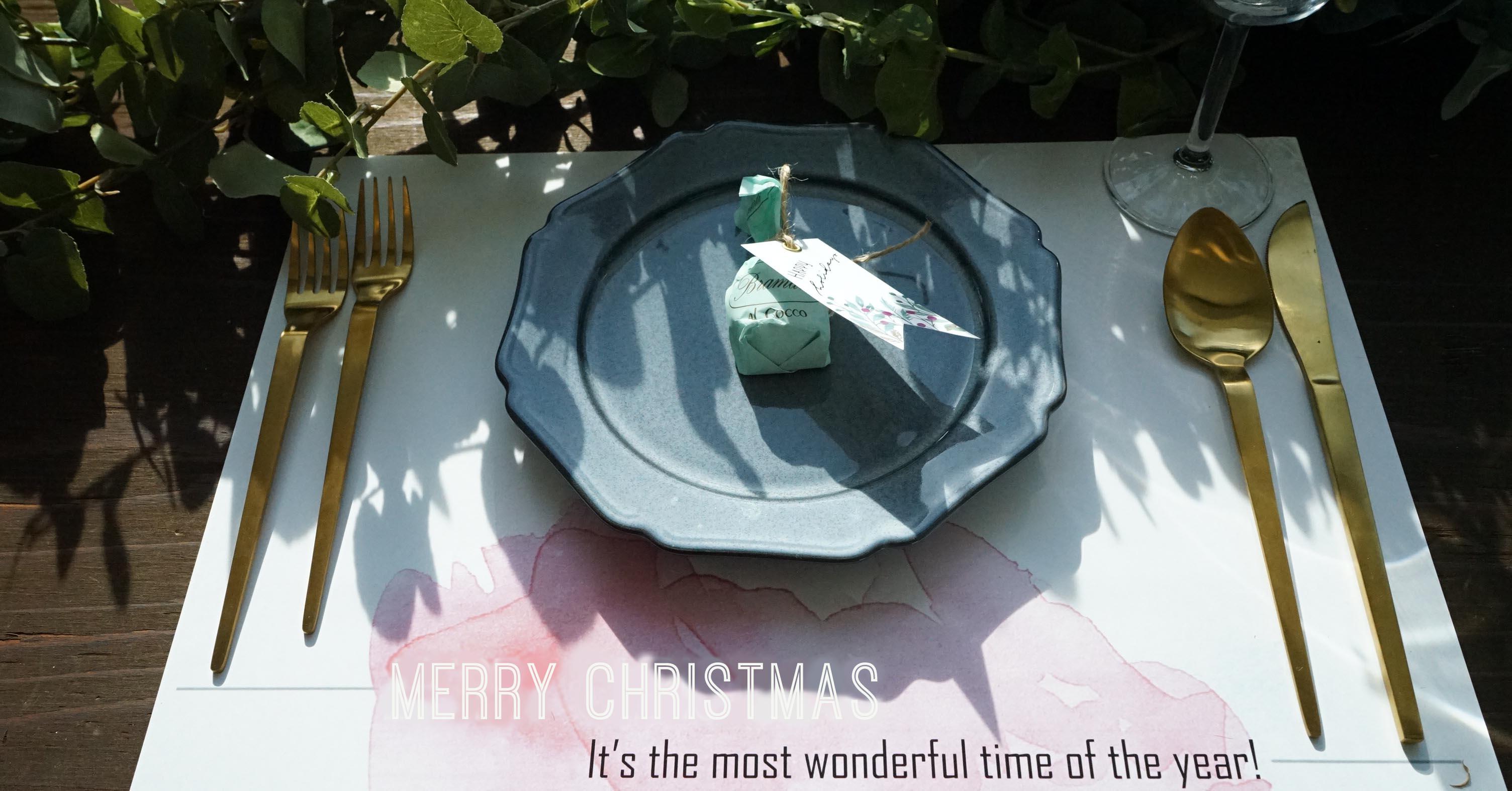 【無料テンプレート】クリスマスの食卓を彩ろう♪プレースマット3種