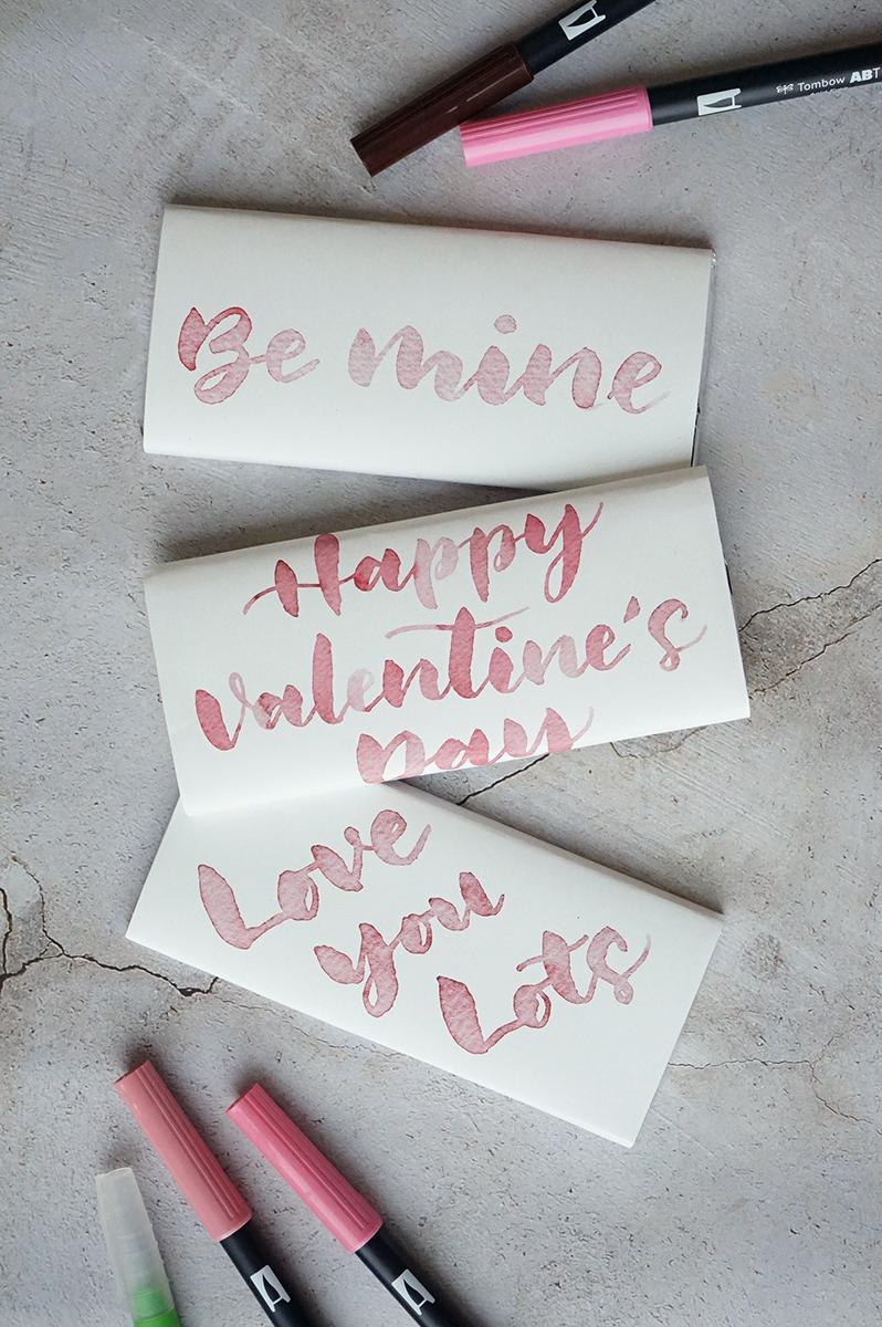バレンタインレタリング