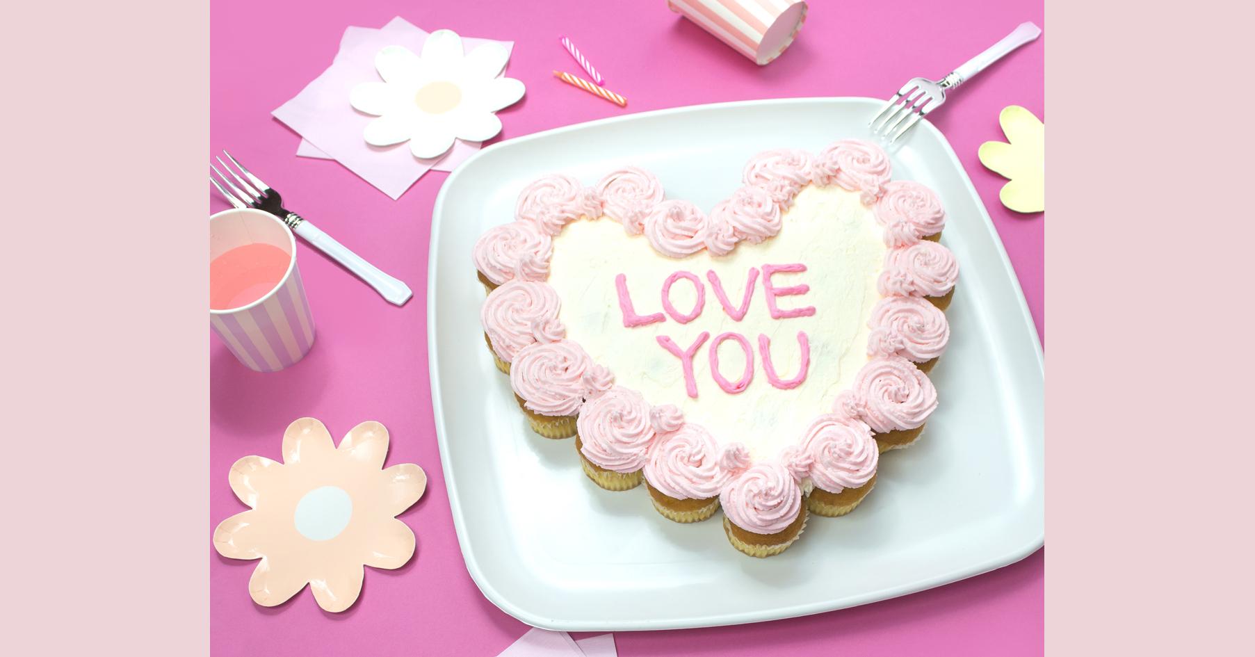 市販のカップケーキをバレンタインアレンジ!簡単プルアパートケーキの作り方
